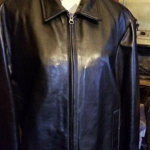 VTG Gap Men's Black Leather Jacket MINT CONDITION